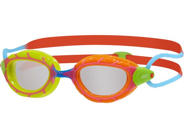 Zoggs Predator Lunettes de protection Enfant, green orange/red blue/clear